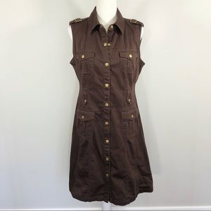 Calvin Klein Sleeveless Shirt Utility Dress
